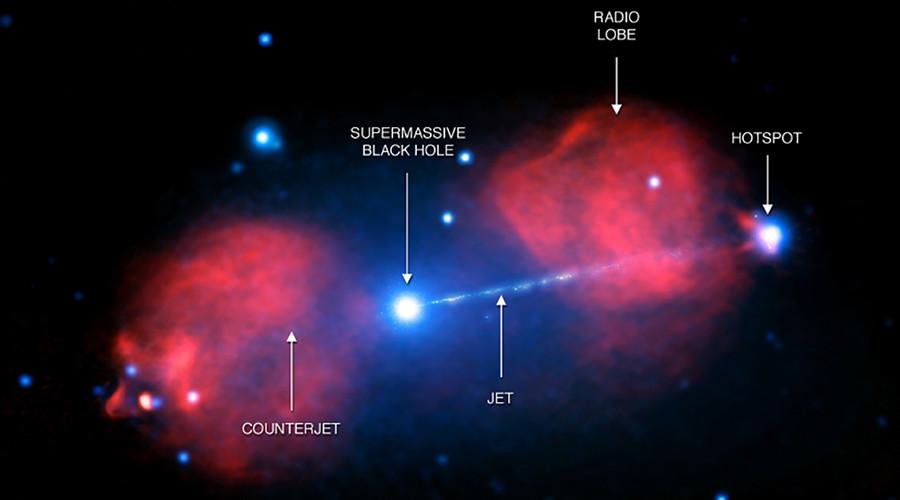 Death Star: Supermassive black hole blast travels 300,000 light years (PHOTO)