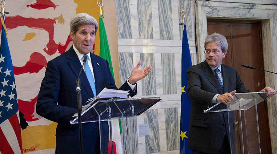 'You created ISIS!' Press conference scandal mars Kerry's visit to Italy