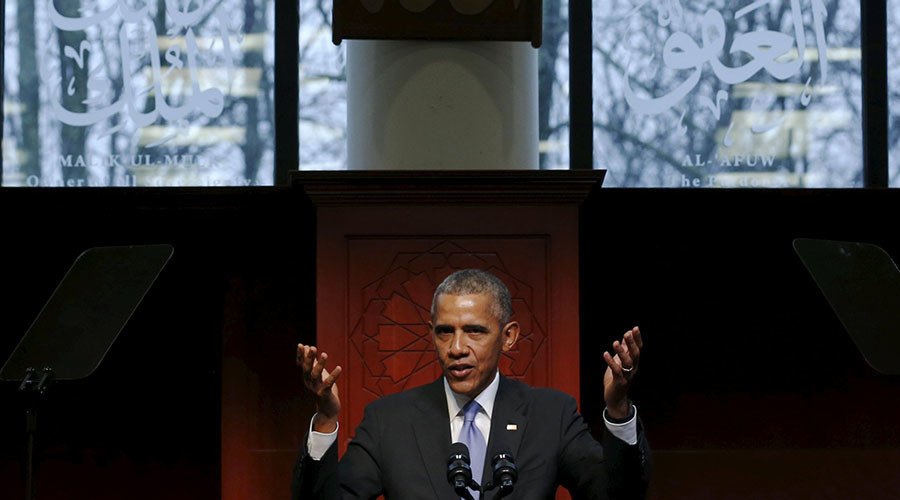 Obama's first US mosque visit: 'Better late than never'