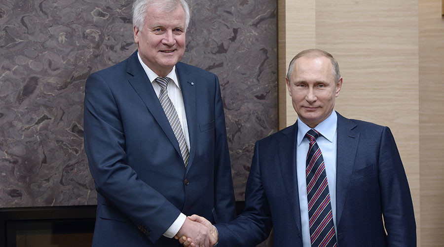 Merkel's coalition rival urges dismantling of anti-Russia sanctions after visiting Putin