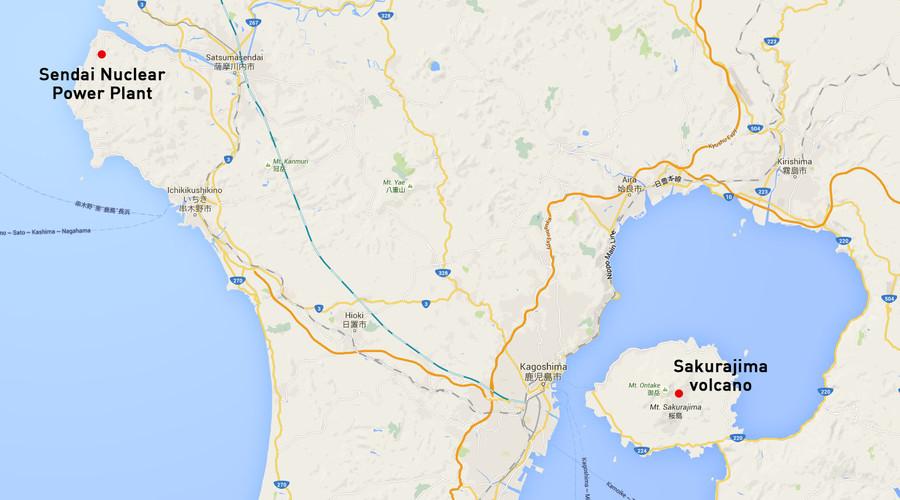 Japans Sakurajima Volcano Erupts Some Km From Nuclear Plant - Japan volcano map