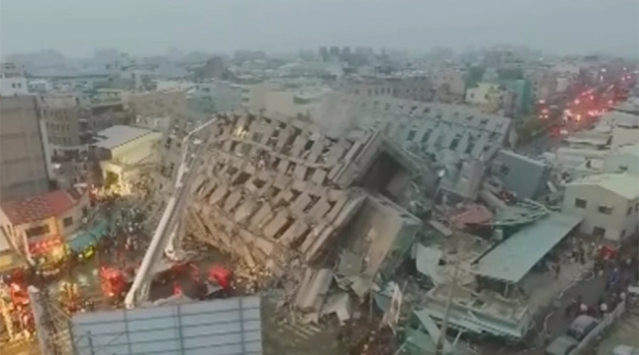 At least 14 killed as multiple buildings collapse in 6.4 Taiwan quake