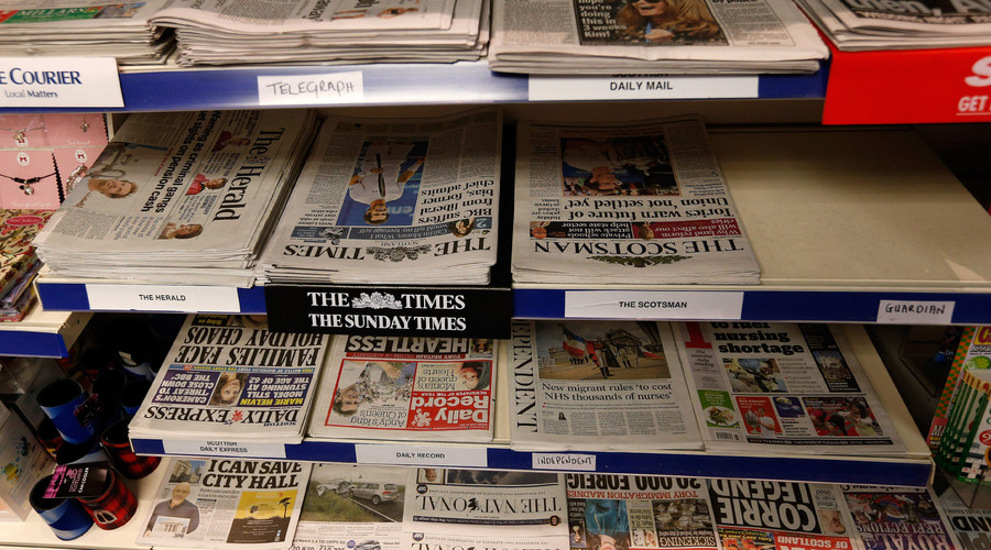 'Most right-wing in Europe': British media lambasted in YouGov poll