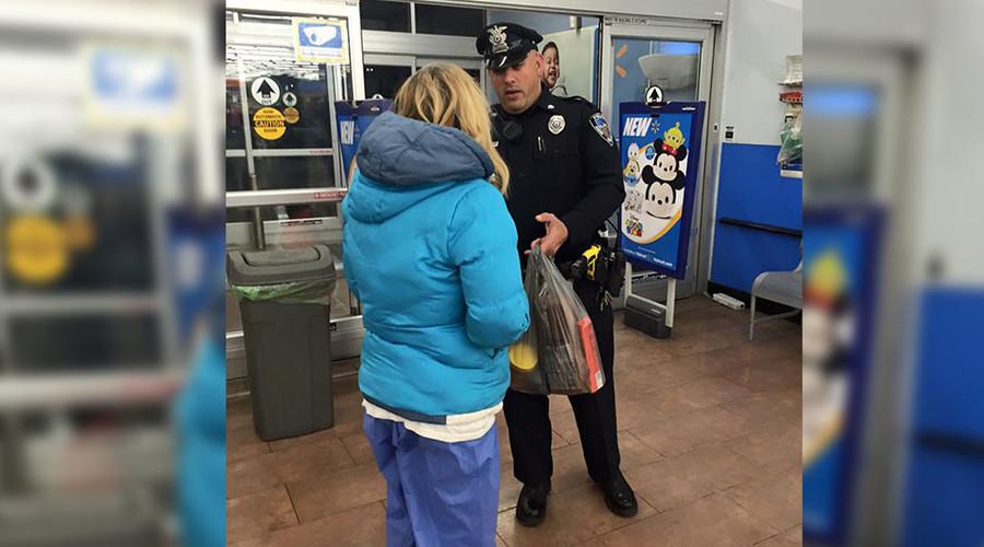 Mass. cop helps homeless woman survive snowstorm