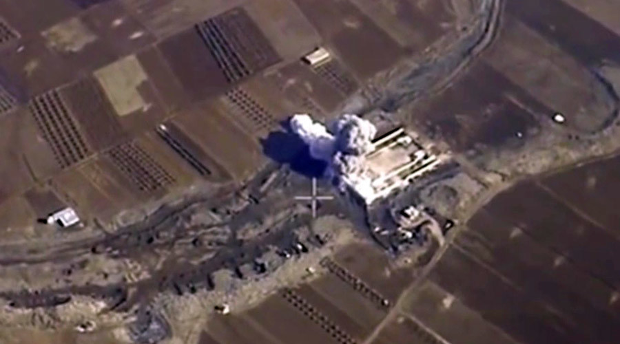 French TV uses Russian airstrikes video while reporting on US-led coalition successes in Syria