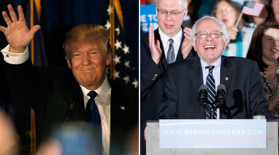 Trump, Sanders blow away rivals in New Hampshire