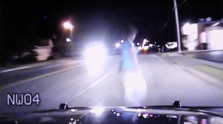 'I think I hit a person': Speeding US patrol officer in dashcam video (GRAPHIC)
