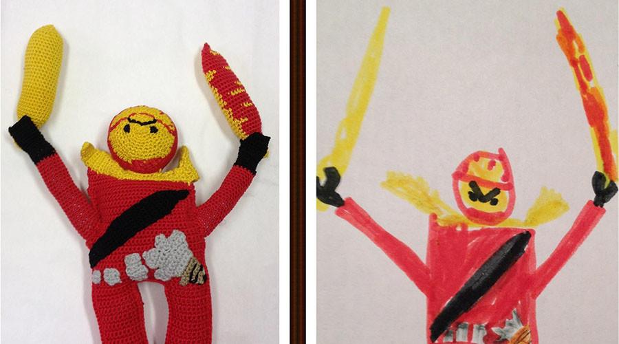 Toy Story: Kids' fantastic drawings transformed into bizarre stuffed dolls