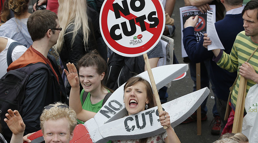 Embarrassing families: Cameron's aunt joins her 2nd anti-austerity rally