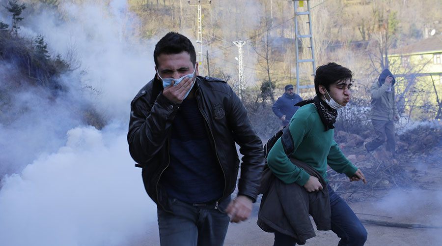 Police teargas locals protesting new gold mines in Artvin, northeast Turkey