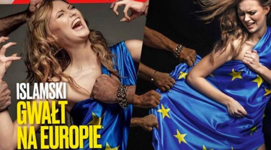"Polish magazine depicts ""European rape"" at the hands of migrants, Twitter reacts"