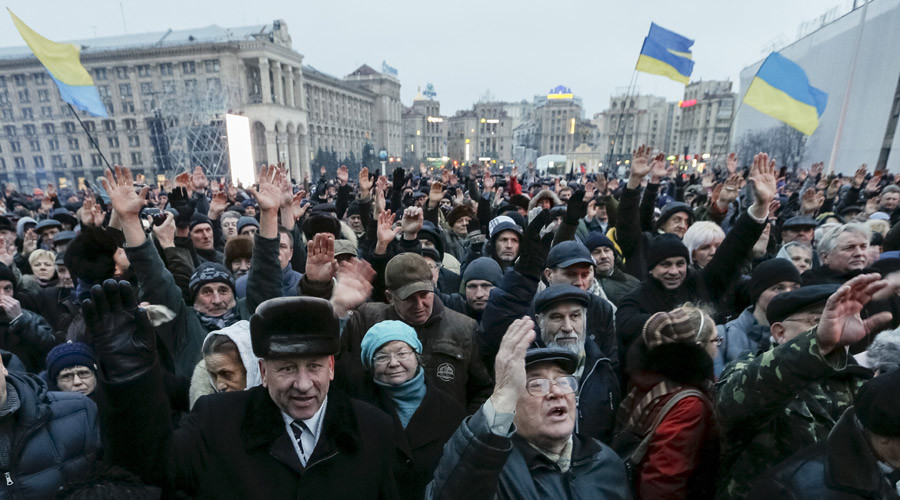 Kiev protesters demand resignations & early elections, mull forming 'popular government'