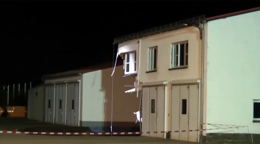 50m deep sinkhole swallows building in Germany (VIDEO)