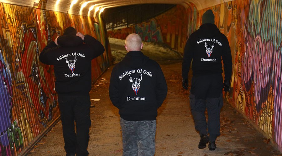 Finland's anti-migrant 'Soldiers of Odin' street patrols extend to Norway