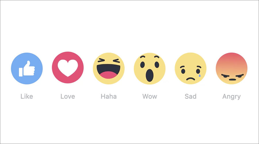 What, no 'meh'? Facebook finally rolls out reaction buttons other than Like