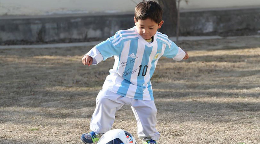 'Messi loves me': Afghan 'plastic bag jersey' boy  gets superstar's shirt