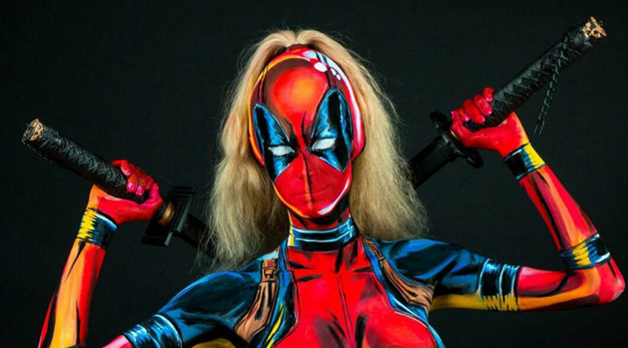 Wonder woman: Canadian designer morphs into superheroes with epic body art (VIDEOS)