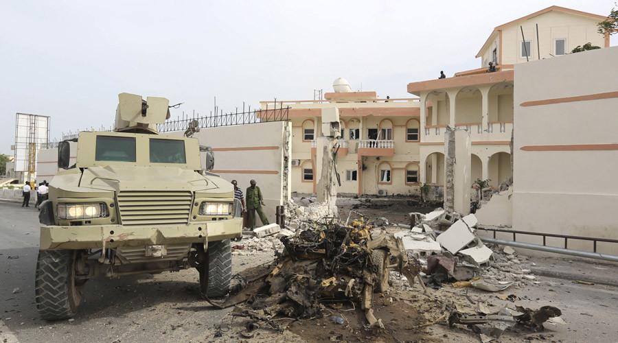 At least 12 killed as Al-Qaeda-linked militants storm hotel in Somali capital