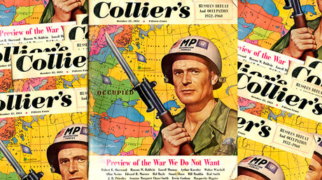 Attitudes and facts: US, Russia diplomats spar on Twitter over World War 3 map in vintage magazine