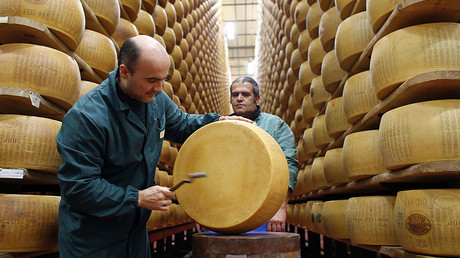 Cheesed-off Italians swap bank bonds for Parmesan