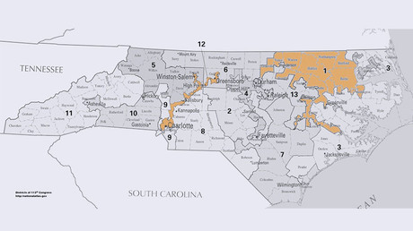 North Carolina's congressional districts maps