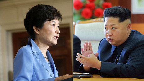 South Korea's President Park Geun-hye (L), North Korean leader Kim Jong Un. © Reuters