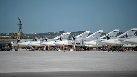 Su-24 bombers of the Russian Aerospace Forces at the Khmeimim airbase in Syria. © Dmitriy Vinogradov