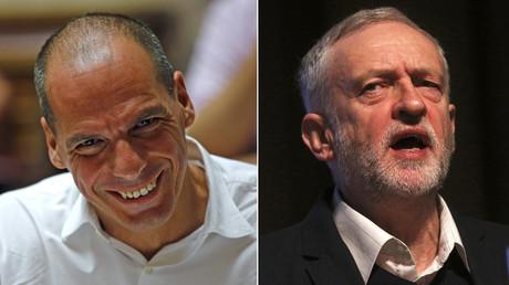 Yanis Varoufakis, Jeremy Corbyn © Jean-Paul Pelissier, Neil Hall