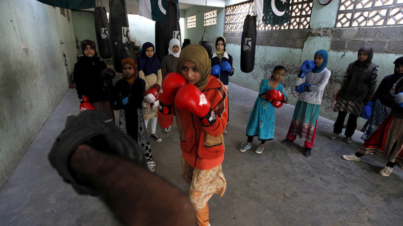 'Boxing is in our blood': Pakistani girls fighting for better life through sport (VIDEO)