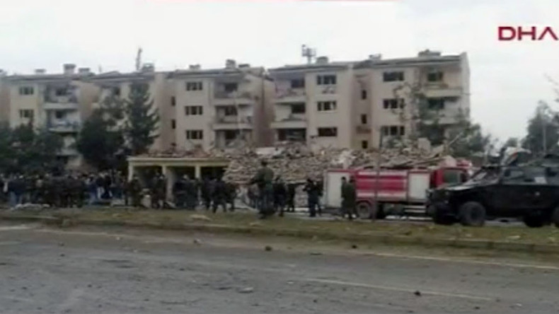 2 policemen killed, dozens injured after bomb blast in south eastern Turkey