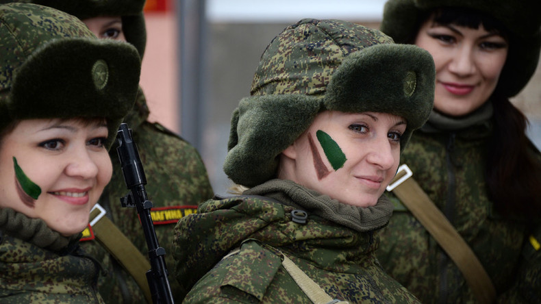 'Make-up…military-style': Russian servicewomen compete in speed and strength (PHOTOS)