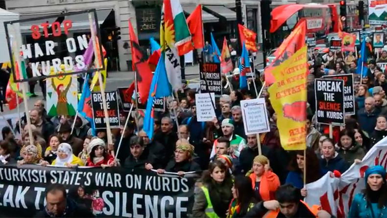 London rally condemns Turkey's 'war on Kurds', UK media silence (PHOTOS, VIDEO)
