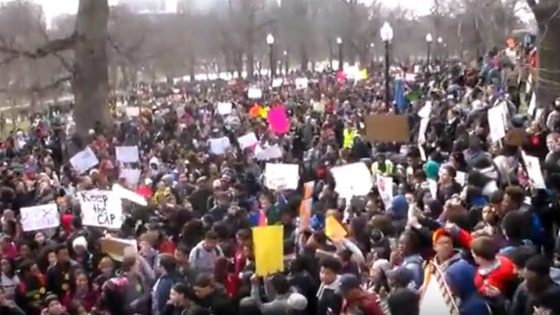 1,000+ students protest school budget cuts in Boston