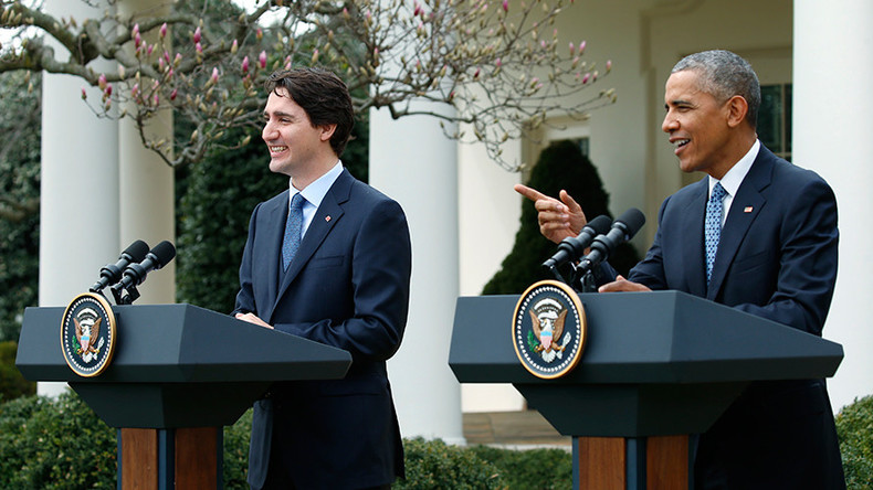 Trudeau visits US to discuss TPP, climate change & ISIS with Obama
