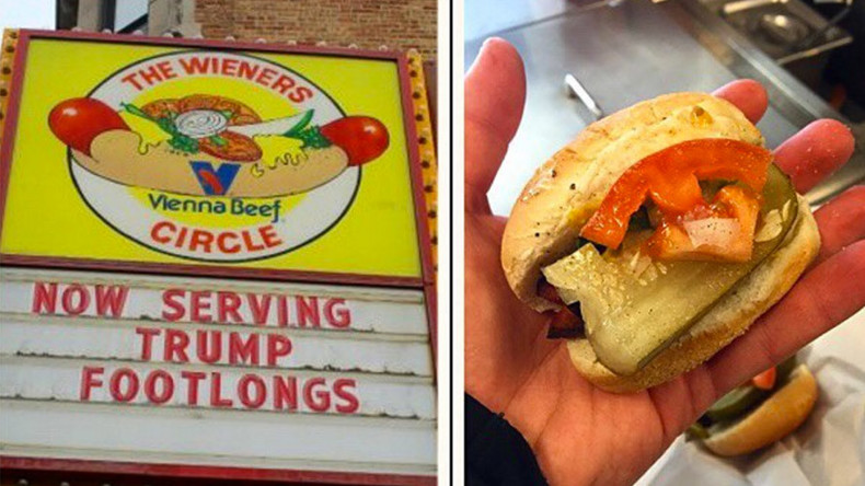 Donald dogs: Famous Chicago eatery welcomes Trump with tiny wieners (PHOTOS)