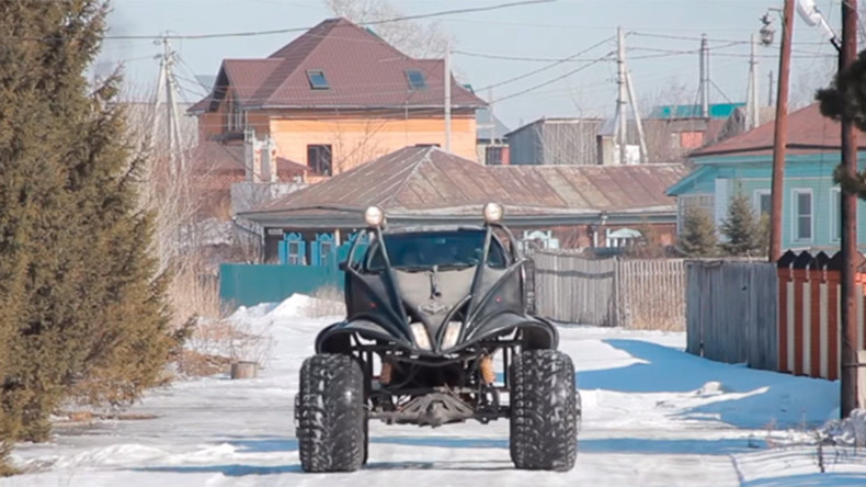 Monster Batmobile: Russian 'Frankencar' is a Nissan on steroids (VIDEO)