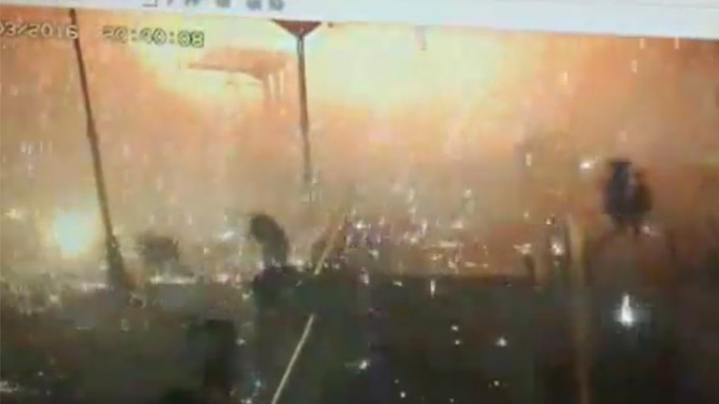 Dramatic CCTV footage of Ankara blast shows fire raining down as people flee (VIDEO)