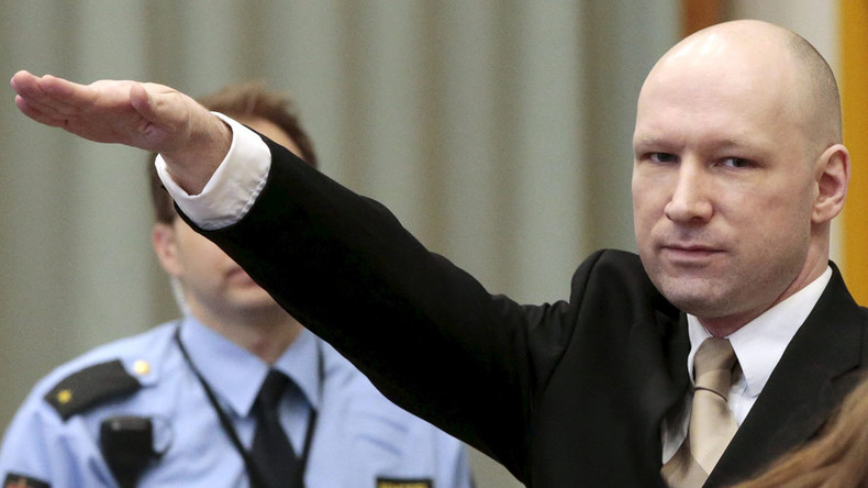 Breivik gives Nazi salute in court while suing Norway for violating his human rights