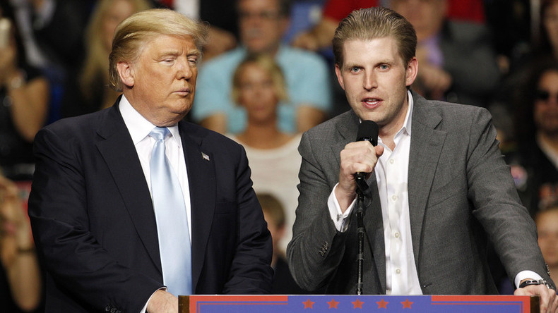 Powder-filled envelope sent to Trump son investigated by FBI, Secret Service, Post Office, NYPD