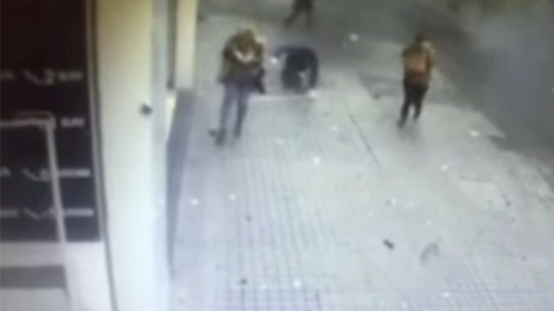 Moment of deadly blast in central Istanbul captured by CCTV cameras (GRAPHIC)