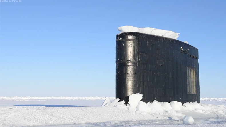 Ice breaker: US nuclear submarine bursts through frozen Arctic ice (VIDEO)