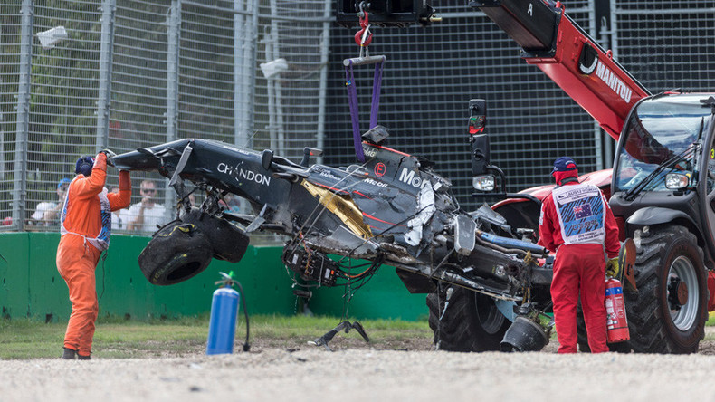 Double world champion Fernando Alonso dodges death in terrifying crash