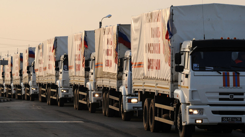 Russian aid convoys come under militant fire in Syria – truce center