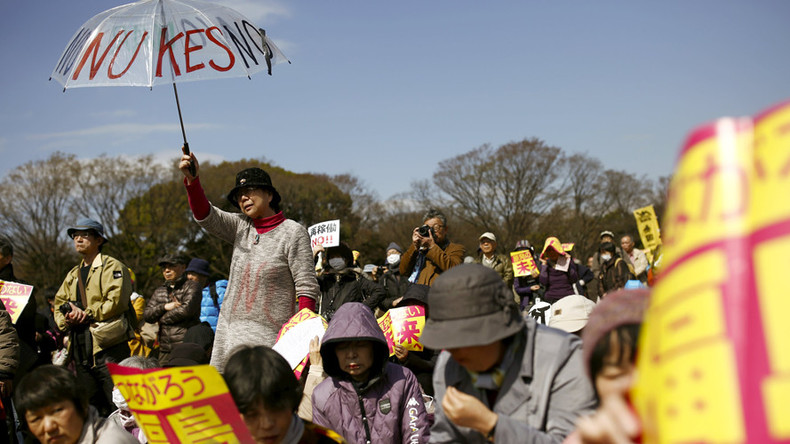 Over 30K people protest Japanese PM's plan to restart nuclear reactors (VIDEO)