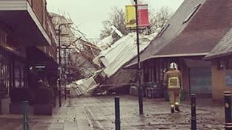 Storm Katie's 168kph winds bring chaos to UK, flights & trains cancelled