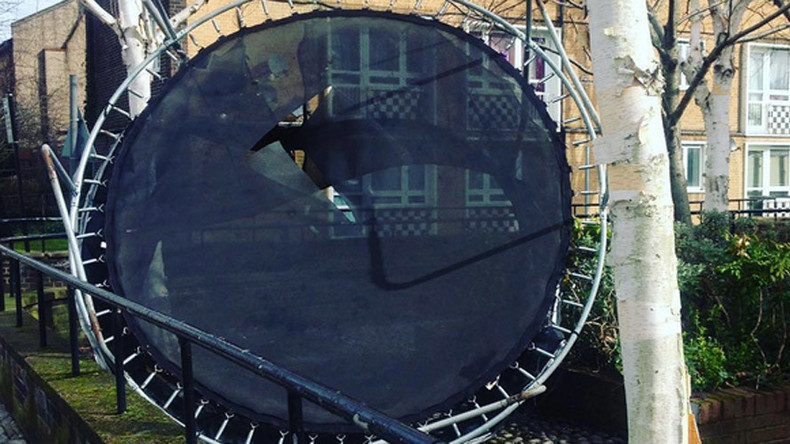 Flying trampolines from #StormKatie cause mayhem across UK (PHOTOS)