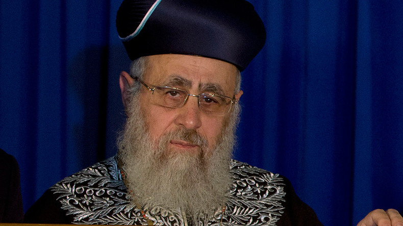 Non-Jews should not be allowed to live in Israel – Israel's Chief Rabbi