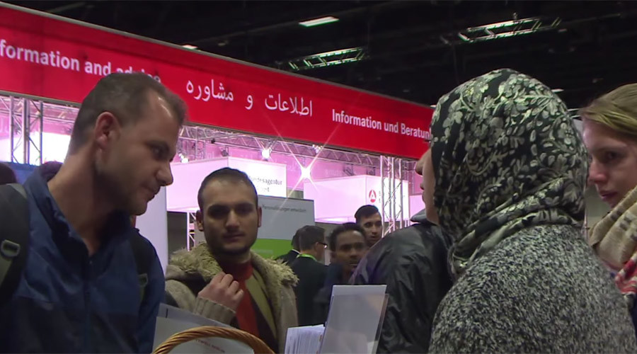 Germany's first refugee-only job fair draws thousands