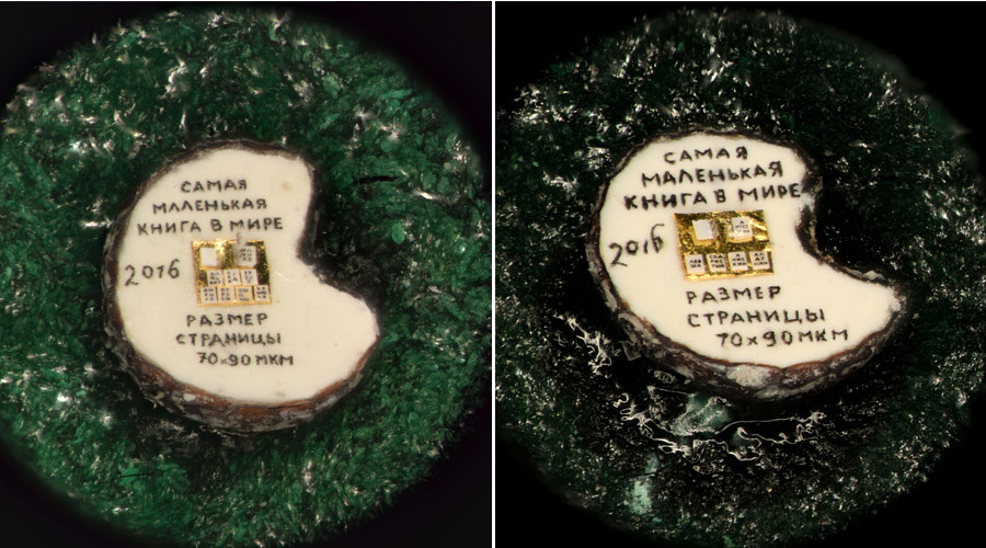 Russian miniature artist fits world's smallest books on halved poppy seeds