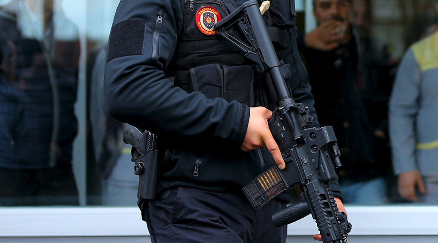 Grenades thrown, gunfight, 2 terrorists attack bus at Istanbul police station
